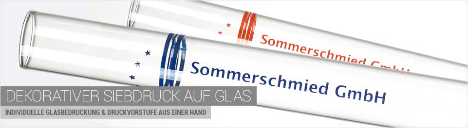 Dekorativer Siebdruck auf Glas - Individuelle Glasbedruckung & Druckvorstufe aus einer Hand