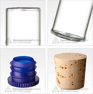 Flachbodengläser, Gläser, Analysegläser, Zylindergläser, Braunglas